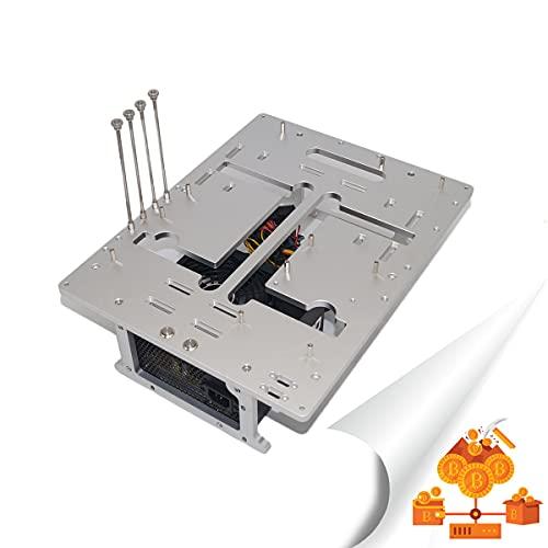 YCRD Offenes PC-Gehäuse, DIY-All-Aluminium-Open-Frame-Chassis mit USB3.0, Gute Wärmeableitung, Gute Wärmeableitung, rutschfeste Fußpolster, Rückenführung, stabile Platzierung für MATX, ATX