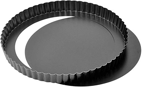 Kaiser Delicious Molde Quiche con Base Desmontable, Negro, 28 cm