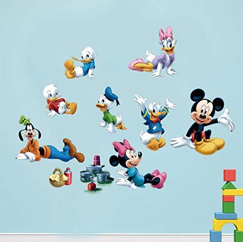 Mickey Maus Donald Duck Wandaufkleber Für Kinderzimmer Kinderzimmer Dekoration Cartoon Pvc Wandtattoos Diy Poster Kunst Baby Geschenk