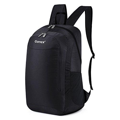 Gonex 28L Lightweight Packable Backpack Handy Travel Hiking Daypack(Black)