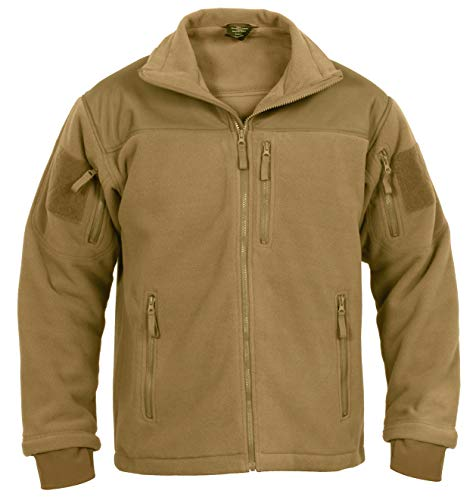 Rothco Spec Ops Tactical Fleece Jacket, Coyote Brown, L