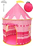 Princess Castle Kids Play Tent – Pop Up Girls Pink Foldable Play...