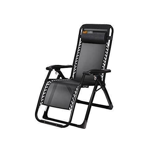 ZYX KFXL liegestuhl Klappstühle - King Kong Black Rutschfester Stuhl für Balkon-Klappstuhl Schwerelosigkeit Klappstuhl