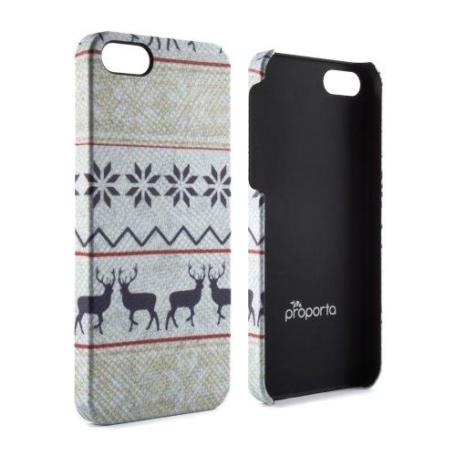 Proporta 9274, Festive Hard Shell per Apple iPhone 5, Prancer, Colore Bianco