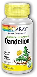Solaray Dandelion Root Organically Grown, Veg Cap (Btl-Plastic) 520mg | 100ct