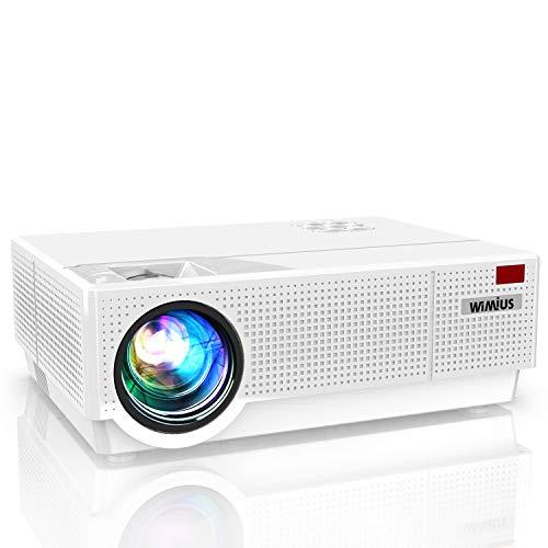 Videoproiettore,WiMiUS 7000 Lumen Nativa 1080P (1920x1080) LED Proiettore Full HD Correzione Trapezoidale ±50° Schermo 300' Con Supporto 4k Smartphone,PS4,TV Box, Fire Stick