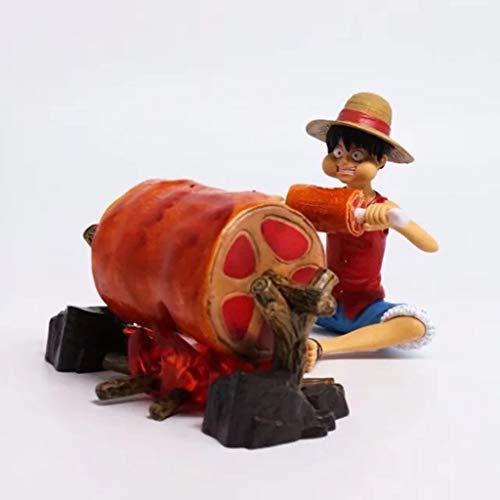 Estatua de juguete Una pieza Modelo de juguete Personaje de dibujos animados Regalo/Colección Posición sentada Mosca de carretera Comiendo carne 9 CM