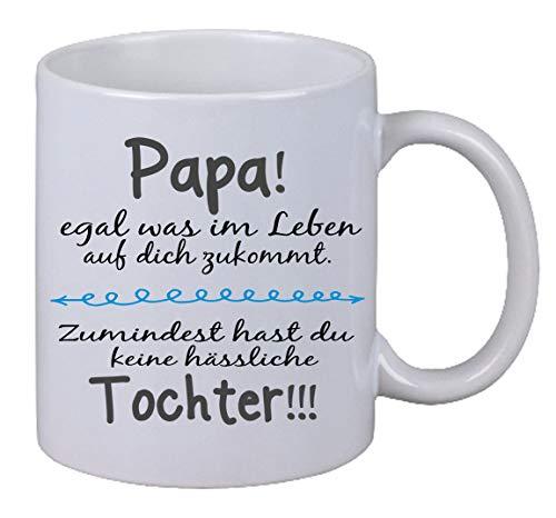 Kaffee Tasse Papa egal was im Leben. Spruch Geburtstag Weihnachten Geschenk