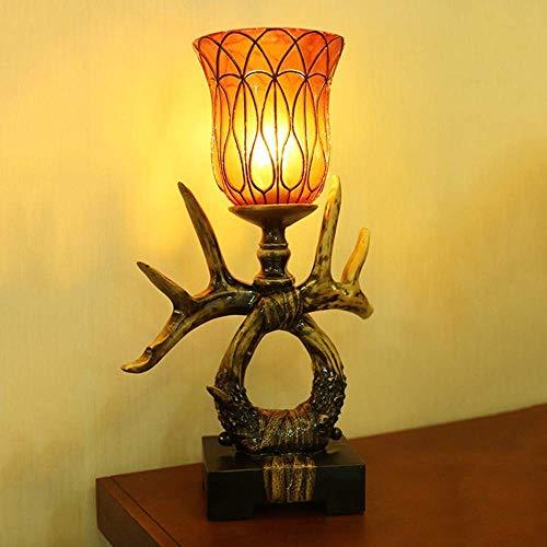 Brightz Regalos de Resina Artesanal decoración del hogar Adornos Estadounidense Cornamenta lámpara de Mesa creativos al por Mayor (35 * 32 * 55cm) Elegante y Hermosa