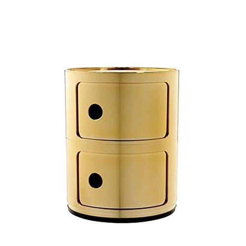 Componibili 2 Container, gold glänzend H 40cm Ø 32cm