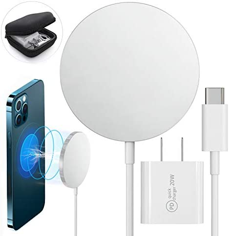 Magnetic Wireless Charger Qi Certified Fast Charging Pad 20 W Quick Charge Compatible with iPhone product image