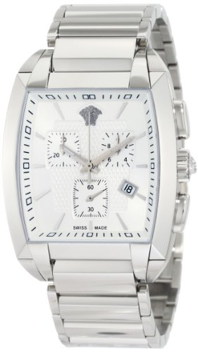 Versace WLC99D002 S099 - Reloj de Pulsera Hombre, Acero Inoxidable, Color Plata