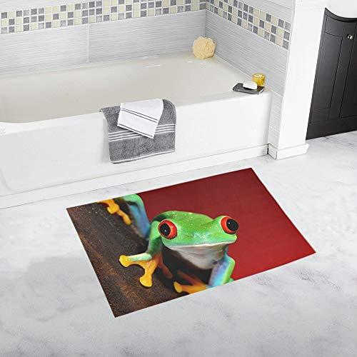 YXUAOQ Redeye Laubfrosch Agalychnis Callidryas Terrarium Benutzerdefinierte rutschfeste Badematte Teppich Bad Fußmatte Boden Teppich für Badezimmer 20 X 32 Zoll