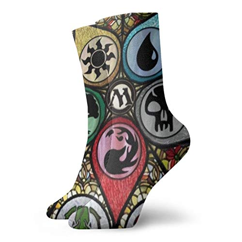 Magic The Mtg Gathe-Ring Unisex Suave Y Cómodo Impresión Calcetines De Moda De Negocios Calcetines Casual Sockstravel Calcetín