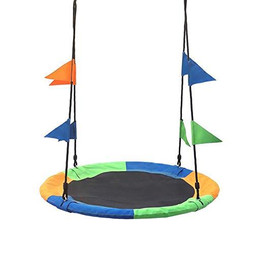 L&B-MR Kinderschaukel 900D Oxford Stoff Runde Baumschaukel Schmetterlingsschaukel Outdoor Spielzeug Rund Hängende Schaukel Für Kinder, Höhenverstellbar, Durchmesser 10 cm, Für Bis Zu 100 Kg