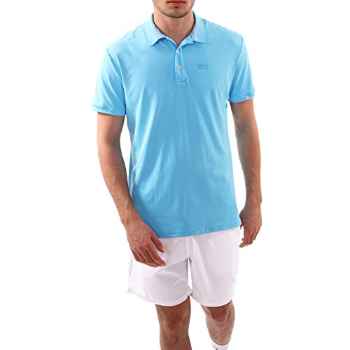 SPORTKIND Boys & Men's Tennis/Golf/Sports Polo Shirt, Light Blue, Size XXX-Large