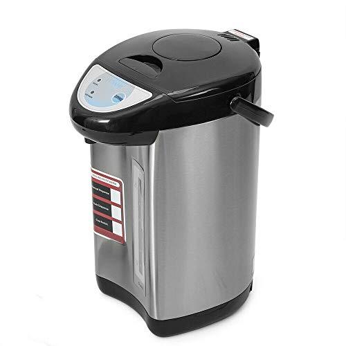 Dispensador de agua de 5,8 litros, de acero inoxidable, dispensador de agua caliente, ahorro de energía, 750 W (negro)