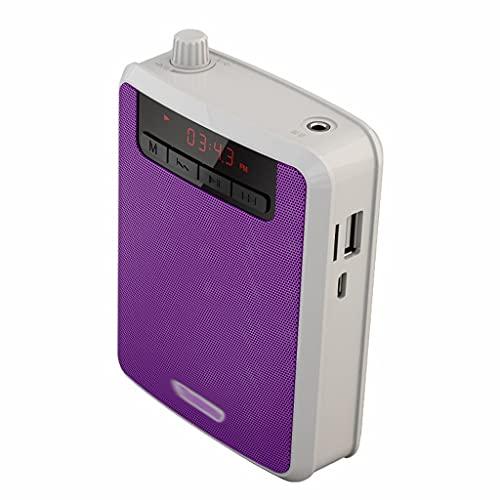 Diaod Mini Altoparlante Megafono FM Recording Amplificatore vocale Amplificatore Insegnante Amplificatore Microfono con Il Lettore MP3 Registratore Radio FM (Color : D)