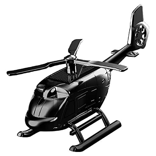 ENticerowts Car Air Freshener Mini Helicopter Car Perfume Odor-resistant Universal Zinc Alloy Black