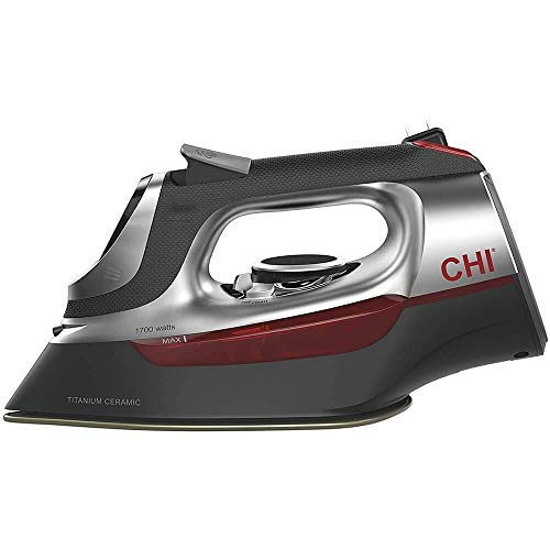 CHI Steam Iron for Clothes with Titanium Infused Ceramic Soleplate, 1700 Watts, Electronic...