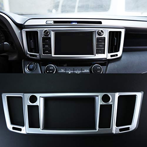 Qwldmj 1 PZ per Toyota RAV4 RAV 4 2016 2017 ABS Cromato Opaco Condizionatore d'Aria Uscita Centrale Centrale Vent Accessori Modanatura Trim