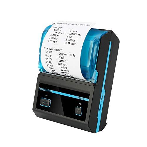 ZUKN Imprimante Thermique De Poche Imprimante De Codes À Barres sans Fil Bluetooth Mini Portable Compatible avec Android iOS Windows POS pour Le Restaurant De Supermarché