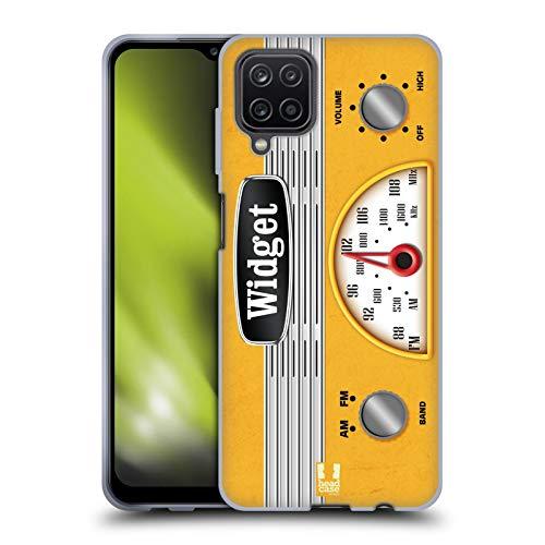 Head Case Designs Widget Radio Telefono Vintage Cover in Morbido Gel e Sfondo di Design Abbinato Compatibile con Samsung Galaxy A12 (2020)