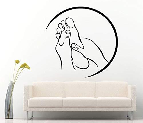 lyclff Spa Massage Zeichen Aufkleber Vinyl Aufkleber für Salon Relax Pamper Beauty Rest Wandaufkleber Moderne Raumdekoration Aufkleber 57x56 cm