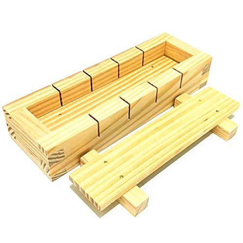 Pangyan990 Rechteckige Sushi-Pressform-Hersteller aus Holz, DIY-Handpressform aus Bambusholz, Reisform Reis-Kuchenform-Box Sushi-Form DIY-Handpressform