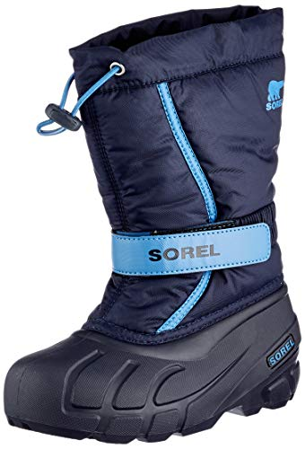 Sorel Unisex-Kinder-Winterstiefel, YOUTH FLURRY, Blau (Collegiate Navy, Atmosphere), Größe: 37