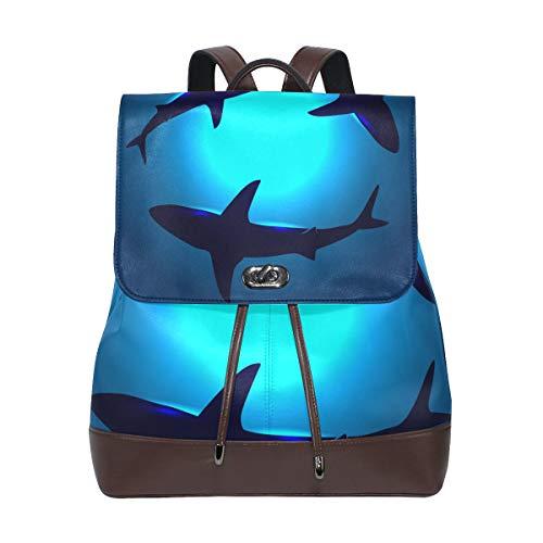 Mochila Mochila Escuela Mar Océano Animal Tiburones Bailando para el Hombre Chicos Chicas Mujer Viaje Guardería