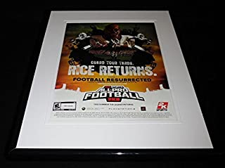 Jerry Rice All Pro Football 2K8 PS2 Xbox Framed 11x14 ORIGINAL Advertisement