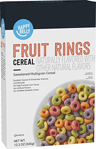 Amazon Brand  Happy Belly Fruit Rings Cereal 122 Ounce