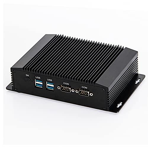HUNSN Fanless Industrial PC, Mini Computer, IPC, Intel Celeron 2955U, IM08, AC WiFi/BT4.0/VGA/HDMI/2LAN/2COM RS232/4USB3.0, (Barebone, NO RAM, NO Storage, NO System)