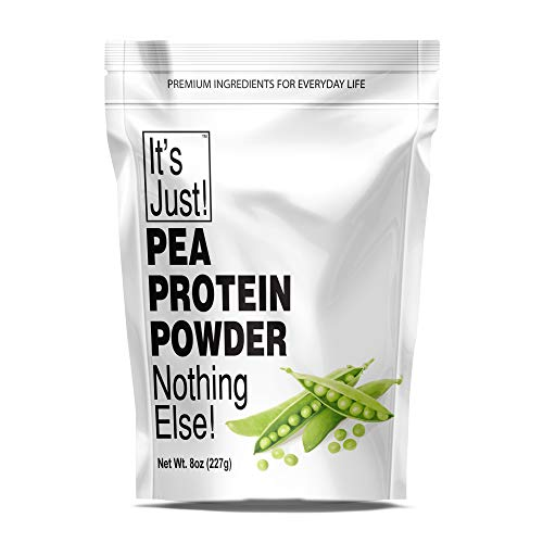 It's Just - Pea Protein Powder, Ultra Smooth Texture, Unflavored, Canadian Grown Peas, Vegan, Plant Based Protein, 8oz