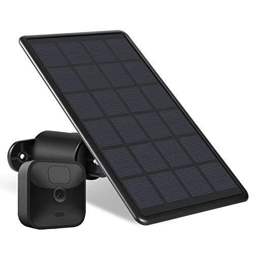 Wasserstein Solar Panel Compatible with Blink Outdoor & Blink XT2/XT - Power Your Blink Surveillance Camera Continuously (Black)