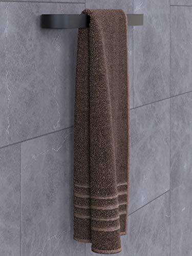 Toallero clásico con almohadillas adhesivas (45 cm), color negro