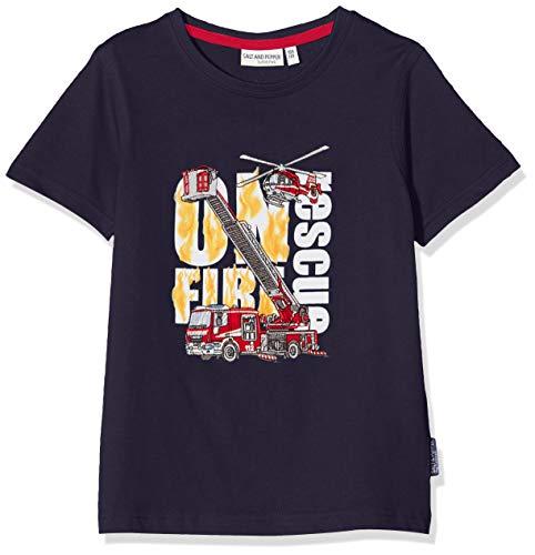 Salt & Pepper Jungen 03112136 T-Shirt, Blau (Navy 498), 128 (Herstellergröße: 128/134)