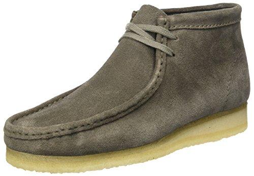 Clarks Originals Herren Wallabee Mokassin Boots, Grau (Grey Suede), 42 EU