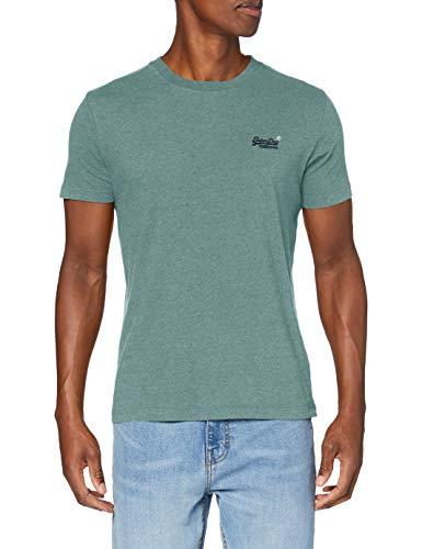 Superdry M1010222A Camiseta, Grano Verde de Algas Marinas, Large para Hombre
