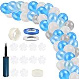 133 PCS Arco Guirnalda de Globos Azules Kit, Globos Metálicos de Helio de Látex Kit, Suministros para Fiestas, Juego de Globos para Baby Shower, Decoraciones para Fiestas, Bodas, Decoraciones de Fondo
