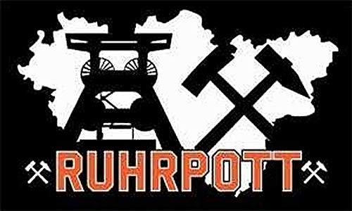 Flagge / Fahne Ruhrpott schwarz 90 x 150 cm