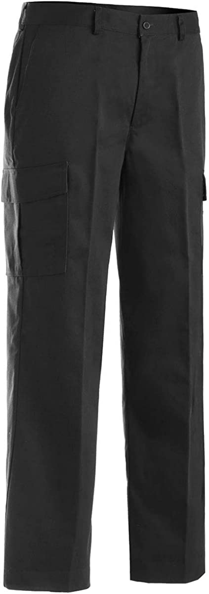 Edwards Garment Men's Casual Chino Moisture Wicking Cargo Pant, Black, 42 26