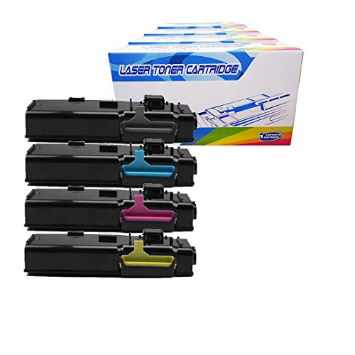 Inktoneram Compatible Toner Cartridges Replacement for Xerox 6600 Phaser 6600 6600dn 6600n 6600ydn WorkCentre 6605 6605dn 6605n 106R02225/2226/2227/2228 ([Black,Cyan,Magenta,Yellow], 4-Pack)