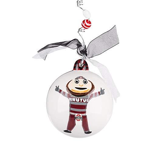 Glory Haus Ceramic Collegiate Mascot Ball Ornament (Ohio State)
