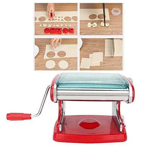 FEYV Macchina per la Pasta, Macchina per la Pasta da Tavolo per Uso Domestico, Accessorio da Cucina in Acciaio Inossidabile per tagliatrice di Pasta per Spaghetti(New Sucker Thickened 3 Knives (Red))