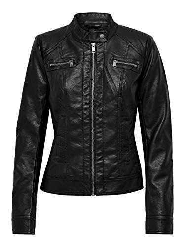 Only Bandit PU Biker Chaqueta, Negro (Black C N 010), 42 (XL) para Mujer