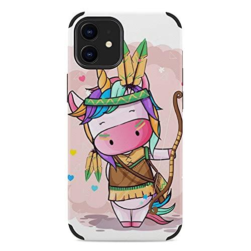 Cover Iphone 12 Mini, Custodia Per Cellulare Serie Iphone Ultrasottile In Microfibra Fantasia Multi-Stile, Antigoccia E Antiurto Tribù Unicorno Carino iPhone 12