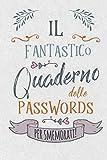 Il Fantastico Quaderno delle Passwords- per Smemorati!: Per conservare tutte le tue Passwo...