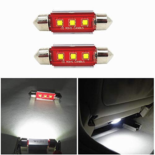 WLJH Pack 2 Canbus Libre De Errores C5 W 39 mm festoon bombillas LED 6000 K Blanco Cree SMD luz bombilla para Auto Coche Licencia Placa interior Dome lectura lámpara de tronco, no polaridad